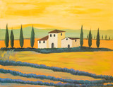 Fototapety Toskanische Landschaft in Acryl