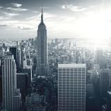 Fototapety Amazing view to New York Manhattan at sunset