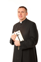 Happy young priest
