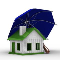 Insurance of habitation. Isolated 3D image on white background