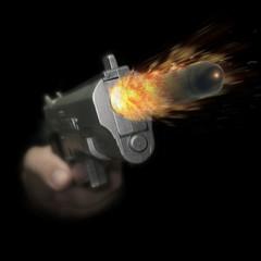 Firing a Handgun
