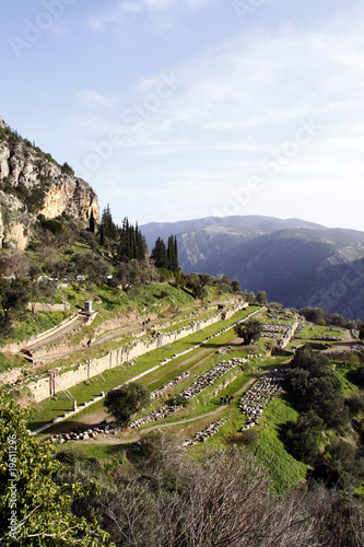 Ancient ruins at Delphi, Central Greece