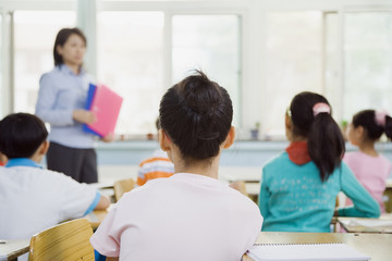 Classroom of Students Watching Teacher