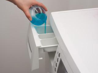 Adding detergent to dispenser