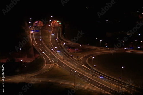 traffic by night in motion (time-lapse)