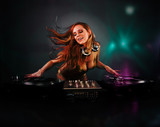 Fototapety Beautiful DJ girl