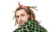 portrait of young dreadlock man isolated poster