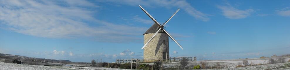 moulin de Moidrey et Mont-Saint-Michel