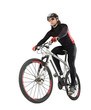 cyclist on the white background