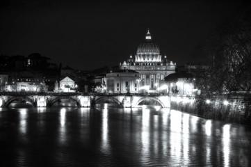 San Pietro - Roma, piena del fiume Tevere