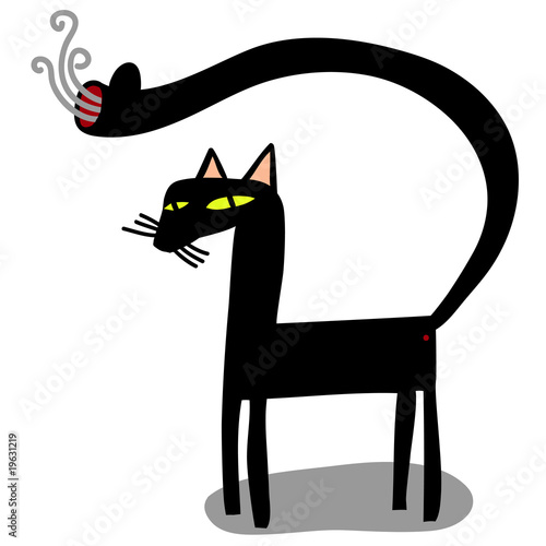 cat with gun in the tail © Complot