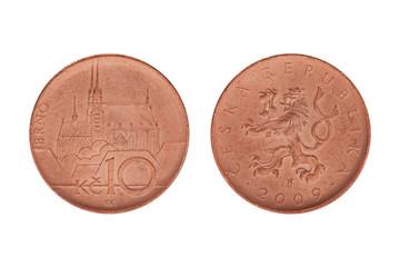 ten czech crown coin