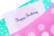 Happy birthday card in envelope
