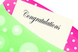 Congratulations note or letter