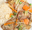 Chinese Roast Pork with Vegetables & Rice