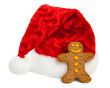 Ginger Bread Man and Santa Hat
