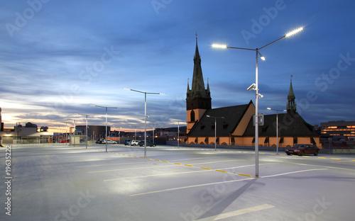 Car park at dusk - 19635222