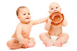 Babies with bread