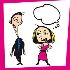 Ilustracion Dibujo Mujer Mujeres Hombre Hombres
