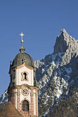 Kirchturm in Mittenwald