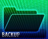 Data information backup storage folder concept illustration poster