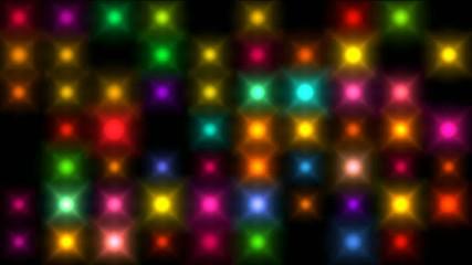 Color square matrix, disco light