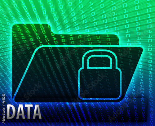 poster of Data information backup storage folder concept illustration