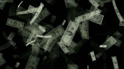 Money animation,Created with hundreds,tens and one dollar bills.