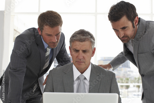 Businessmen with a computer