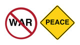 sign - stop war, peace ahead