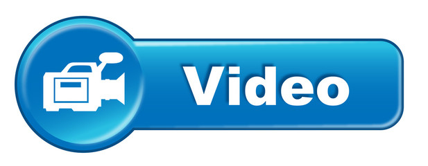 VIDEO Web Button (Watch View Play Clip Click Live Vector Blue)