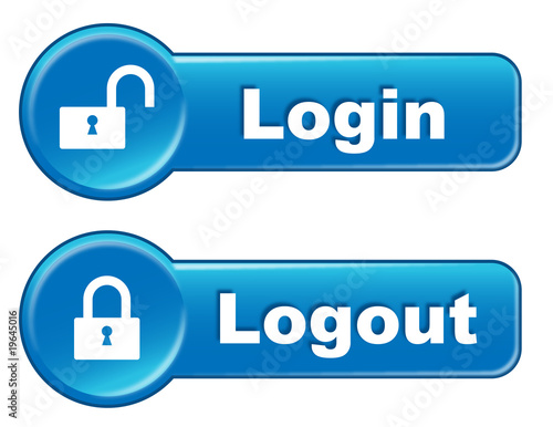 Logout Button Logo Login Logout Web Buttons
