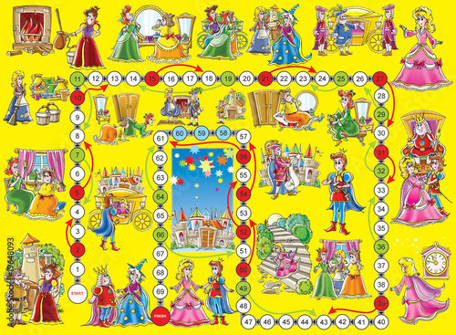 "Board game ""Cinderella"""