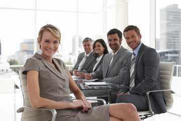 Attractive businesswoman at a meeting