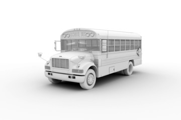 School bus - isolated on white