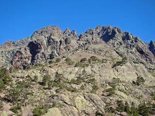 Corse : paysage de montagne à Haut-Asco