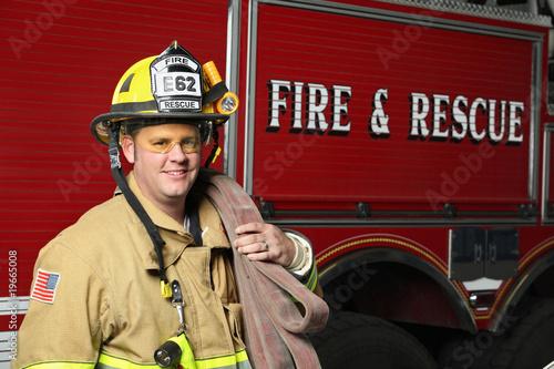 Leinwanddruck Bild Fire Rescue