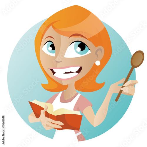 Cuisiniere fichier vectoriel libre de droits sur la banque d 39 - Quelle cuisiniere choisir ...