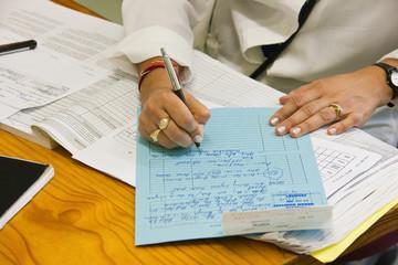 doctor writing file