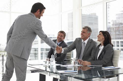 At a job interview