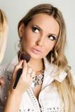 maekup model and beautician poster