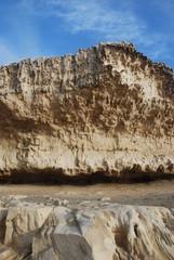 falaise calcaire sur la cote ouest de Fuerteventura