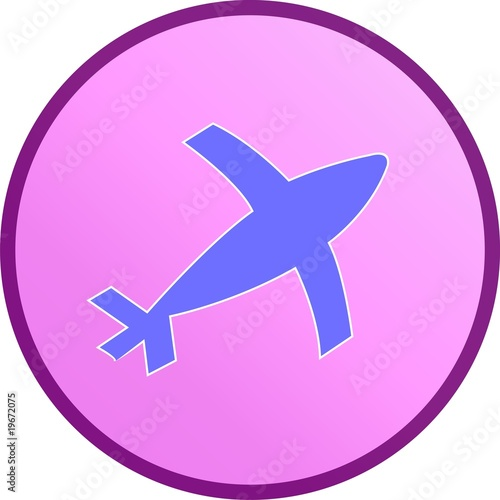 Illustration of a sign of aeroplane in a circle