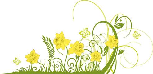 Ostern, Osterglocken, Narzissen, Blume, Blüte, floral