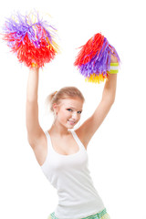 Woman cheer leader dancing