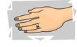 Illustration of hand with birth stone