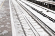 Snow on rail track