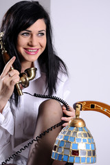 young woman listening secrets