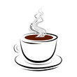 vector coffee mug stylized logo