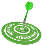 SEO - search engine optimization concept - internet browser poster